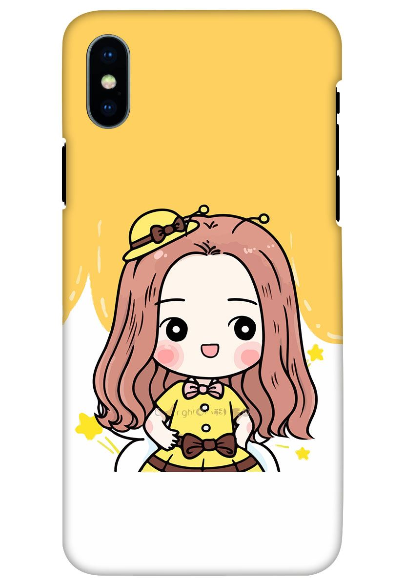 Buy Cute Baby Girl Apple iPhone X Mobile Cover at Rs. 99 Only - Zapvi